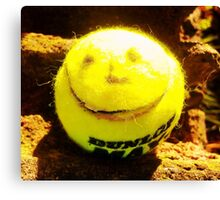 Smiley Tennis Ball  Canvas Print