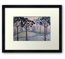 blue landscape #2 Framed Print