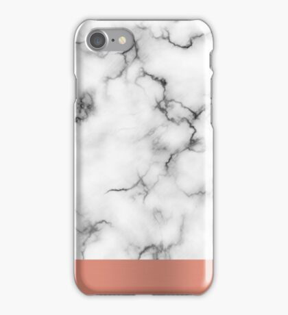 Marble & copper iPhone Case/Skin