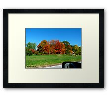 """""""Drive By"""" - Autumn Leaves Framed Print"""