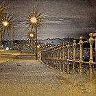 Streetlights and Railing by Philip Bateman
