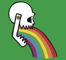 Rainbow Vomit Baby Tee