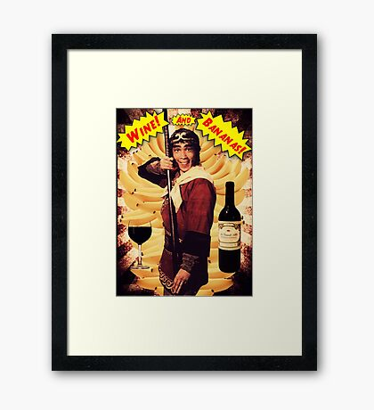 Wine & Bananas Framed Print