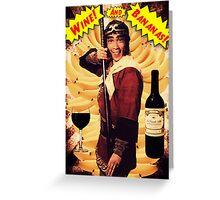Wine & Bananas Greeting Card