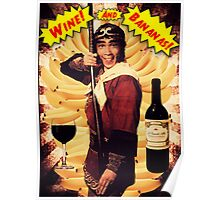 Wine & Bananas Poster
