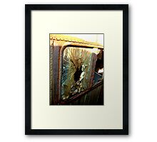 Your Getting Out Thru The Window Framed Print
