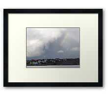 Rainbow Over the Archipelago  - Gothenburg, Sweden Framed Print
