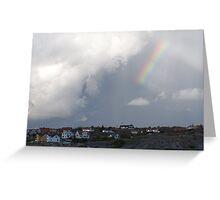 Rainbow Over the Archipelago  - Gothenburg, Sweden Greeting Card