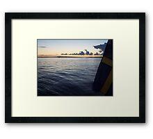 Swedish Flag Trailing Behind Our Sailboat - Gothenburg, Sweden Framed Print