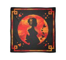 Geisha Silhouette - Sunset - Black Scarf