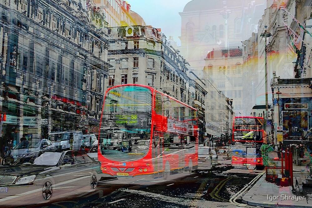 London IX - Red Buses by Igor Shrayer