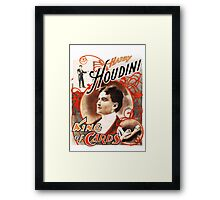 Harry Houdini Master of Cards Vintage Framed Print