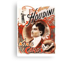 Harry Houdini Master of Cards Vintage Canvas Print