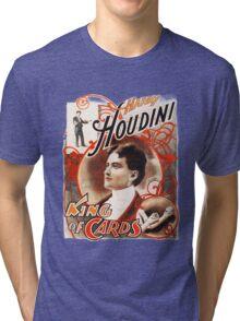 Harry Houdini Master of Cards Vintage Tri-blend T-Shirt