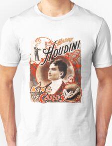 Harry Houdini Master of Cards Vintage Unisex T-Shirt