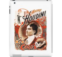 Harry Houdini Master of Cards Vintage iPad Case/Skin
