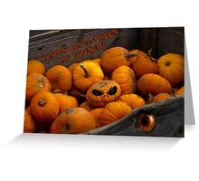 Happy Halloween from the Evil Pumpkin King Greeting Card