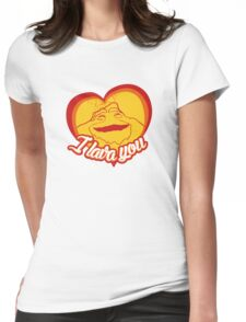 I Lava You (Heart) Womens Fitted T-Shirt