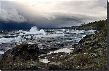 Wave and stormy sky, Lake Superior, Ontario Canada by Eros Fiacconi (Sooboy)