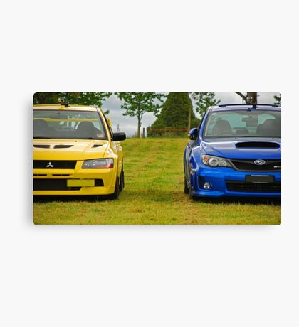 Rally Rivals Canvas Print