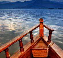 Boat ride in Lake Kerkini Sticker