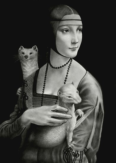 Lady With Two Ermines by Wieslaw Borkowski Jr.