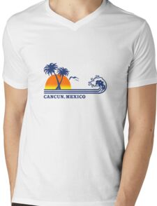 Cancun mexico geek funny nerd Mens V-Neck T-Shirt