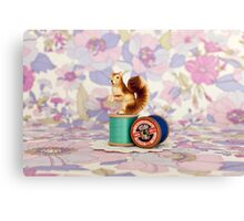 Crafty Squirrel  Canvas Print
