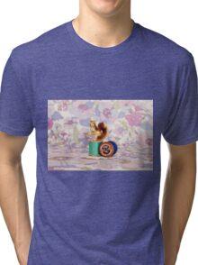 Crafty Squirrel  Tri-blend T-Shirt