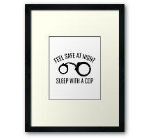 Feel Safe At Night Framed Print