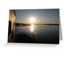 Birding Blind - Sandhill Cranes - Kearney, Nebraska Greeting Card