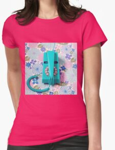 Trim Phone Womens Fitted T-Shirt