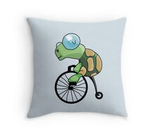 Turtle Likes to Ride. Throw Pillow
