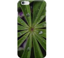 Wet lupin leaf iPhone Case/Skin