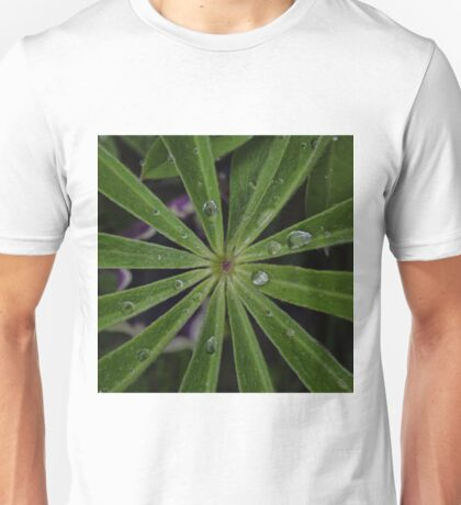 Wet lupin leaf Unisex T-Shirt