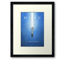 Hope, An Elegant Weapon Framed Print