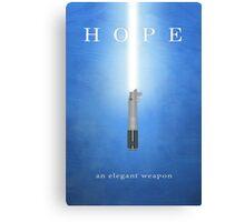 Hope, An Elegant Weapon Canvas Print