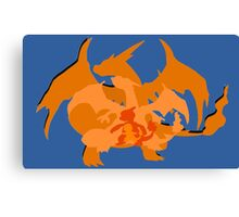 Charizard Evolutions Canvas Print