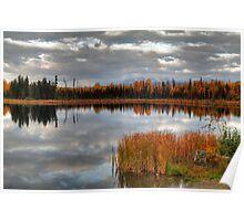 Autumnal lake Poster