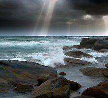 SUNSHINE THROUGH CLOUDS  by David Evans