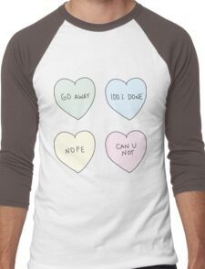 Sassy Hearts Men's Baseball ¾ T-Shirt