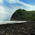 Pololu Valley Beach by Ellen Cotton