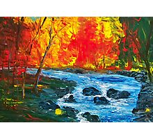 Autumn River Acrylic Impressionism Photographic Print