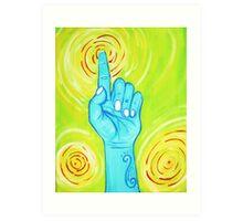 Hand of Blue Buddha Art Print