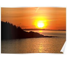 Sunrise Over Great Head - Acadia National Park Poster