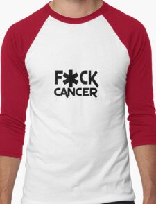 F ck cancer geek funny nerd Men's Baseball ¾ T-Shirt