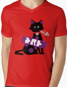 Splatoon Cat Mens V-Neck T-Shirt