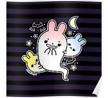 naughty halloween bunny ghost Poster