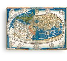 4th edition of Ptolemy's Cosmographia  by Leinhart Holle, dated 1482 Canvas Print