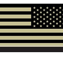 AMERICAN ARMY, Soldier, American Military, Arm Flag, US Military, IR, Infrared, Reflective, USA, Flag, on BLACK by TOM HILL - Designer